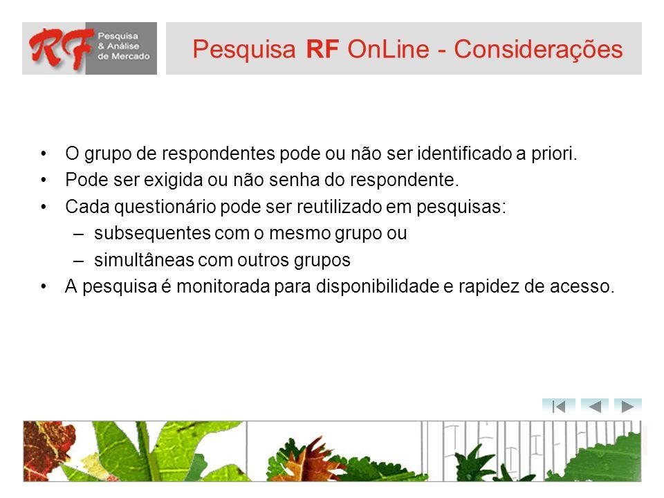 Pesquisa RF OnLine - Considerações
