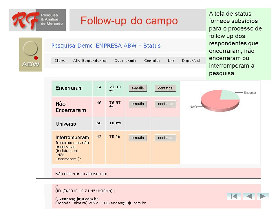 Follow-up do campo