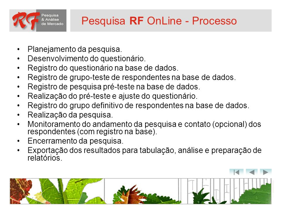 Pesquisa RF OnLine - Processo