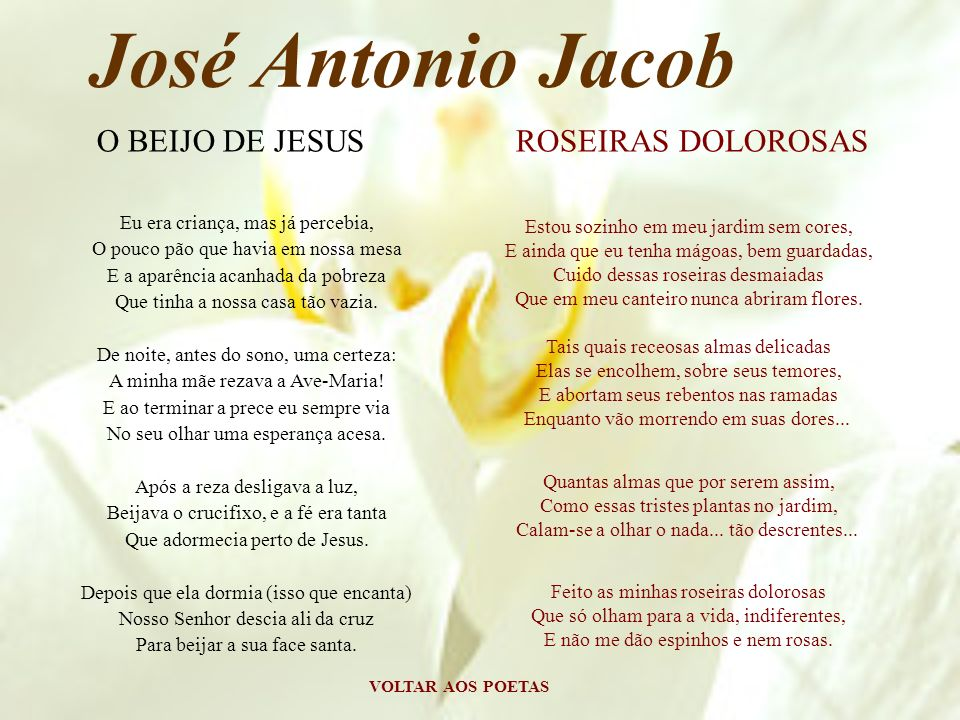 José Antonio Jacob O BEIJO DE JESUS ROSEIRAS DOLOROSAS