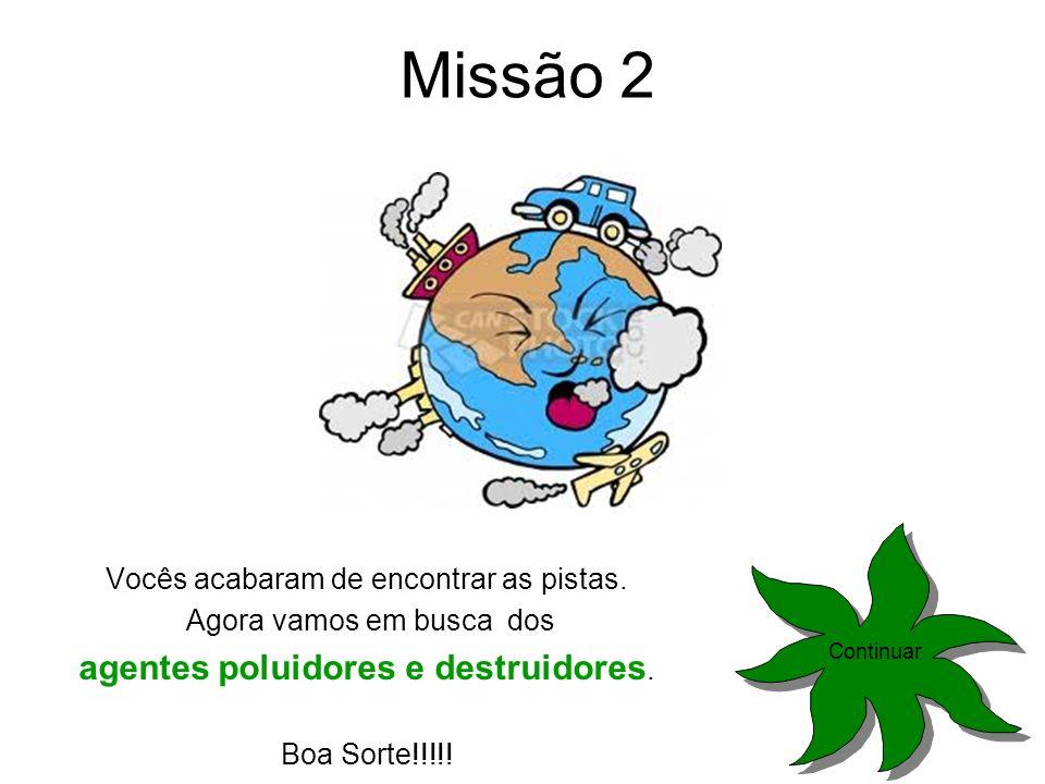 Missão 2 agentes poluidores e destruidores.