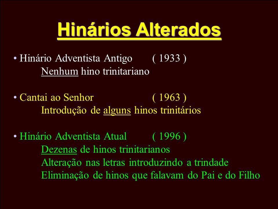 Hinários Alterados Hinário Adventista Antigo ( 1933 )