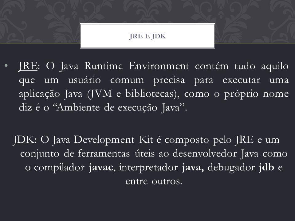 JRE e JDK