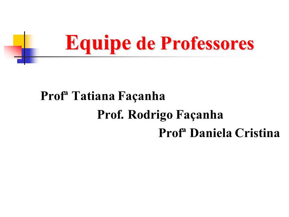 Equipe de Professores Profª Tatiana Façanha Prof. Rodrigo Façanha