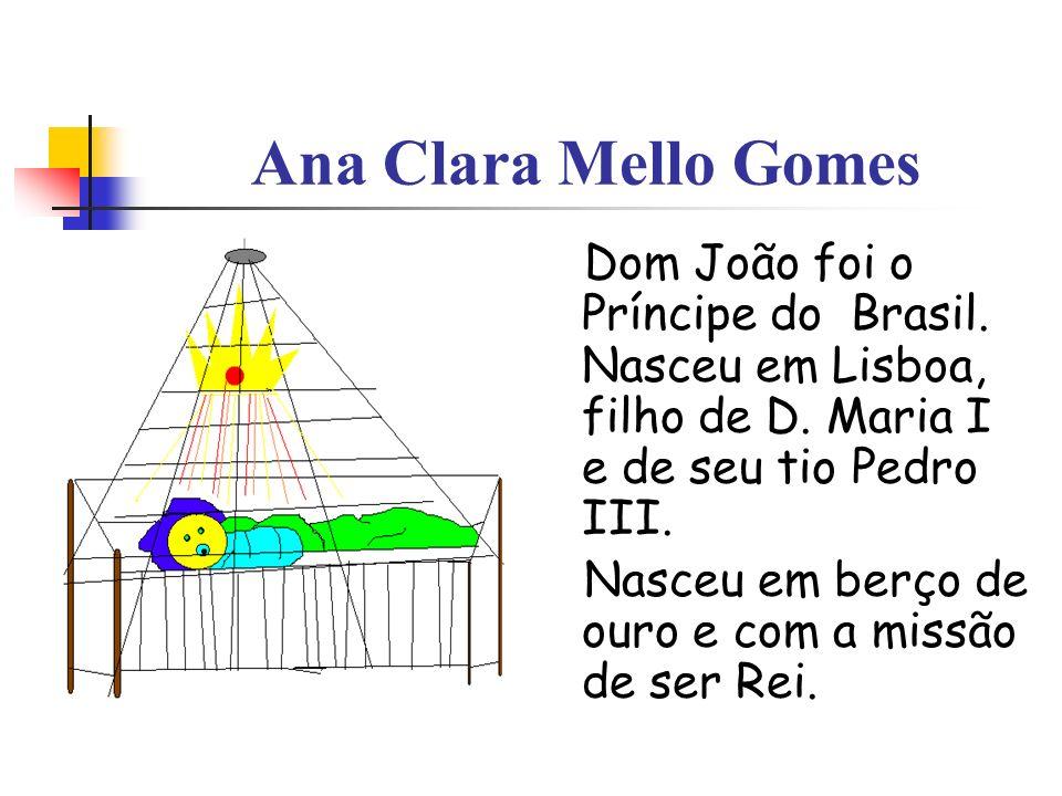 Ana Clara Mello Gomes Dom João foi o Príncipe do Brasil. Nasceu em Lisboa, filho de D. Maria I e de seu tio Pedro III.