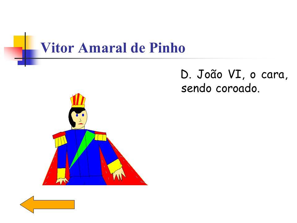 Vitor Amaral de Pinho D. João VI, o cara, sendo coroado.