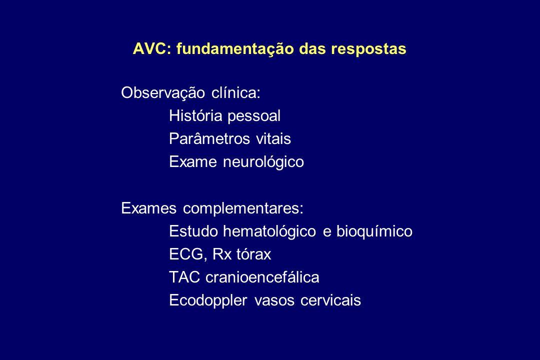AVC: fundamentação das respostas