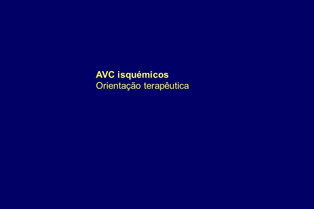 AVC isquémicos Orientação terapêutica