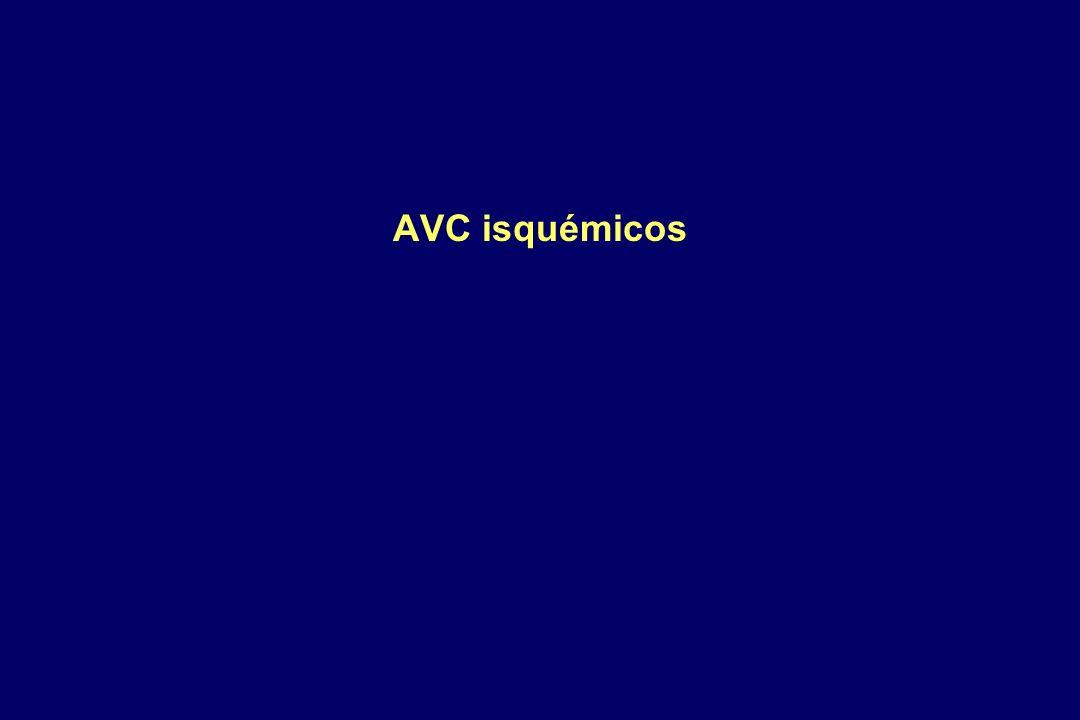 AVC isquémicos