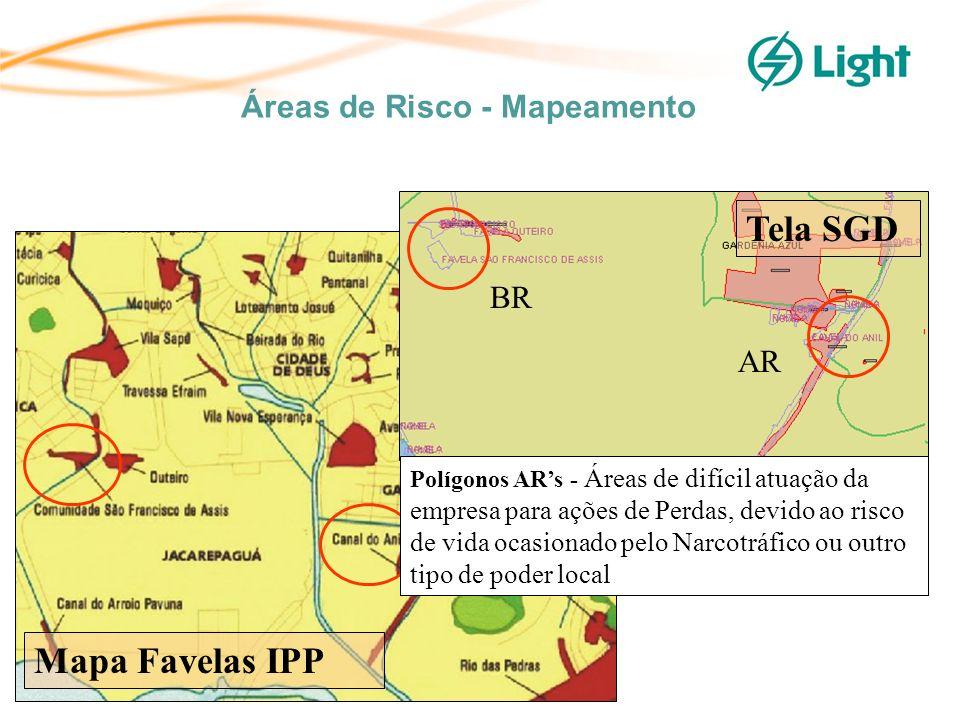 Áreas de Risco - Mapeamento