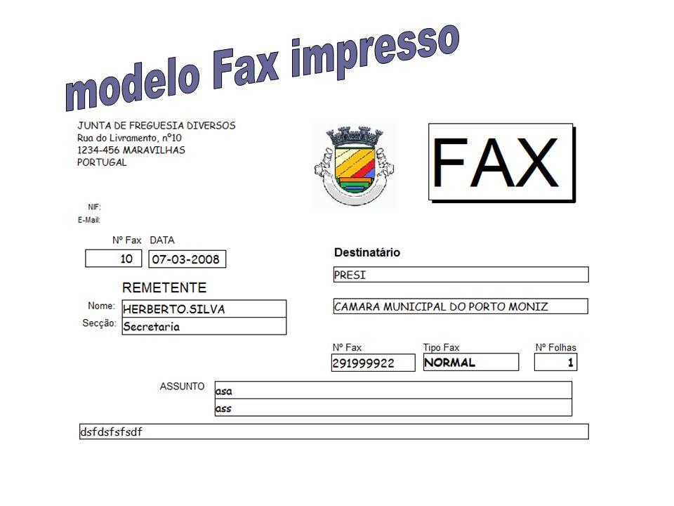 modelo Fax impresso