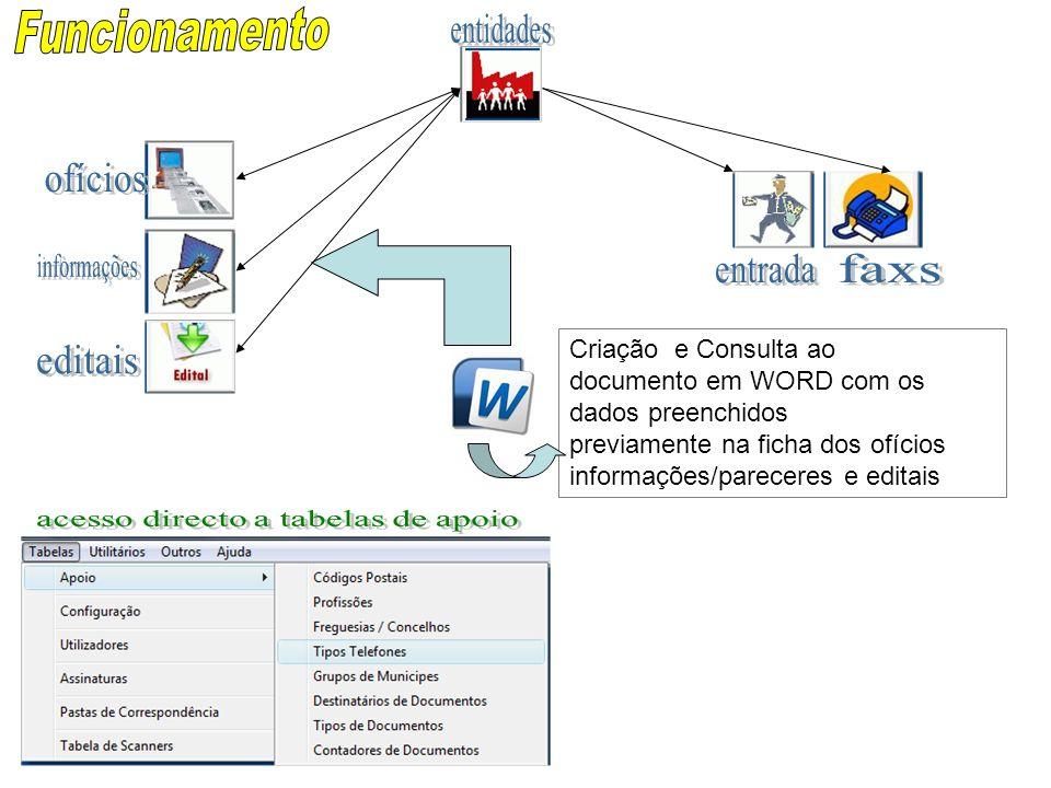 acesso directo a tabelas de apoio