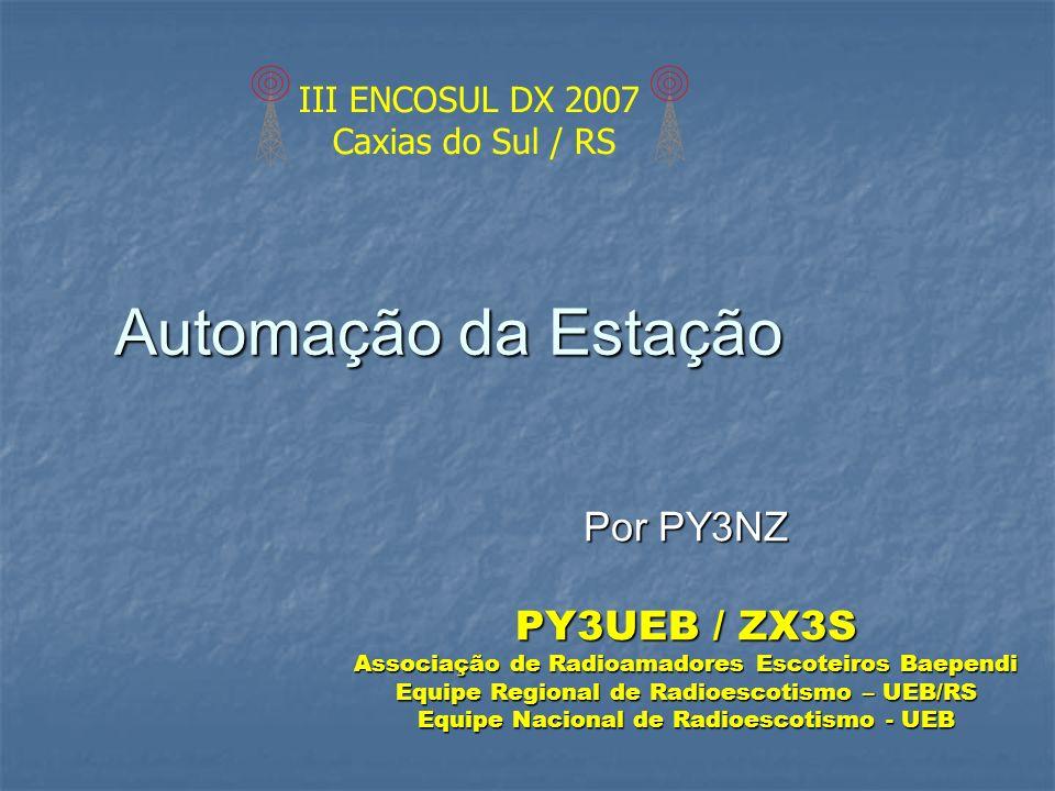 Automação da Estação Por PY3NZ PY3UEB / ZX3S III ENCOSUL DX 2007