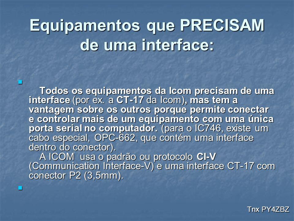 Equipamentos que PRECISAM de uma interface: