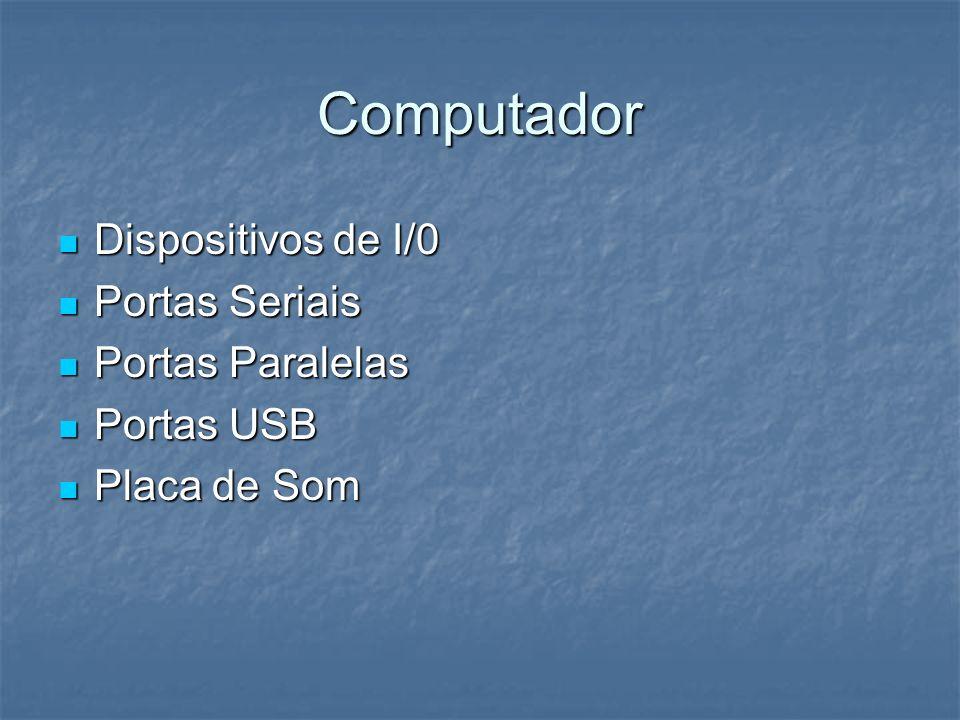 Computador Dispositivos de I/0 Portas Seriais Portas Paralelas