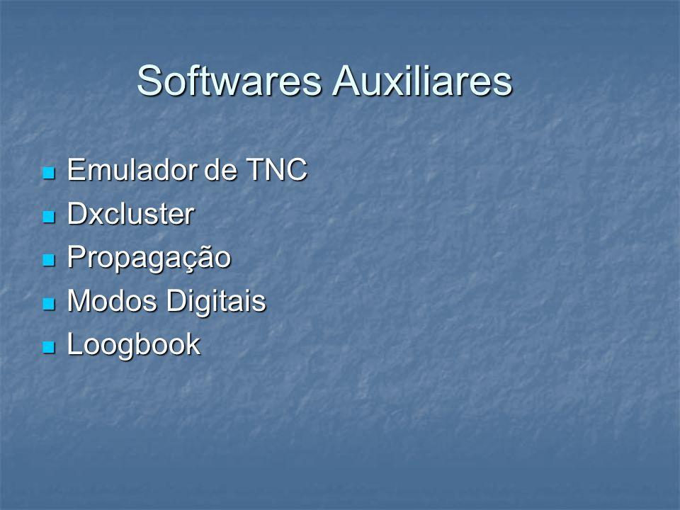 Softwares Auxiliares Emulador de TNC Dxcluster Propagação