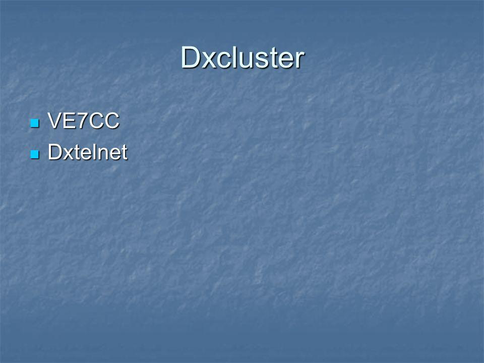 Dxcluster VE7CC Dxtelnet