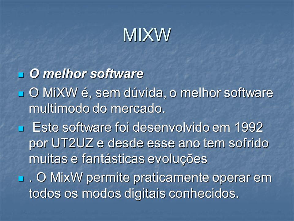 MIXW O melhor software. O MiXW é, sem dúvida, o melhor software multimodo do mercado.