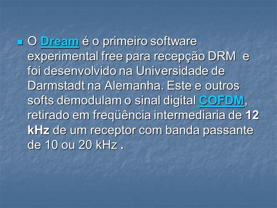 O Dream é o primeiro software experimental free para recepção DRM e foi desenvolvido na Universidade de Darmstadt na Alemanha.