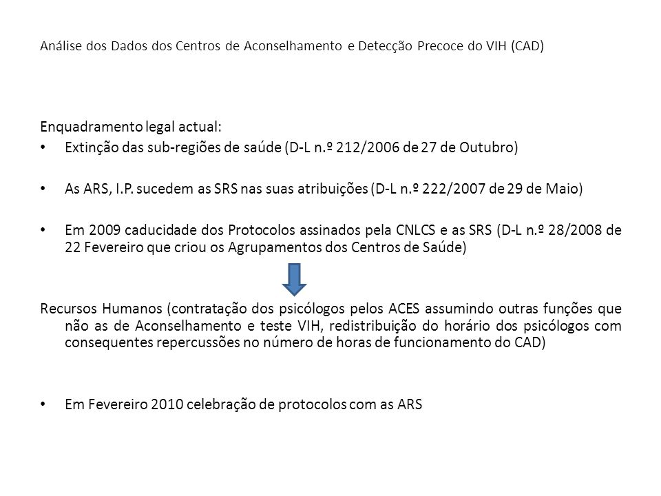 Enquadramento legal actual: