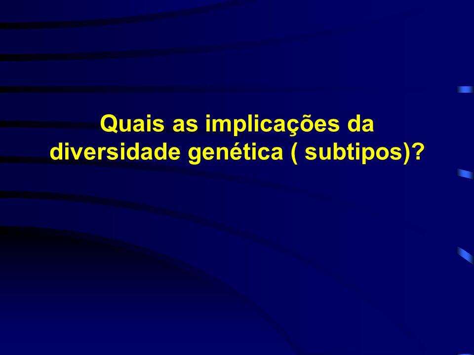 Quais as implicações da diversidade genética ( subtipos)
