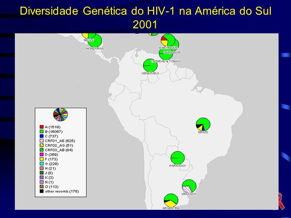 Diversidade Genética do HIV-1 na América do Sul 2001