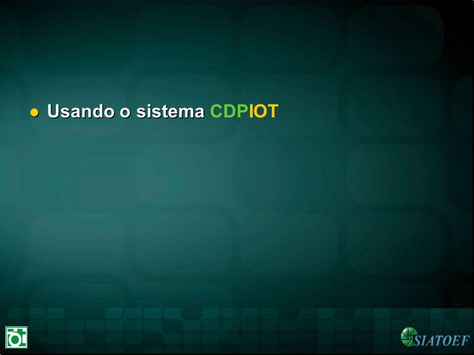 Usando o sistema CDPIOT