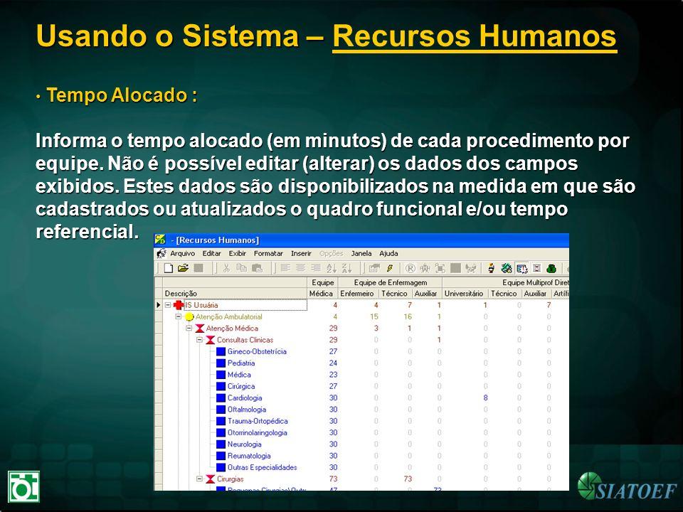 Usando o Sistema – Recursos Humanos