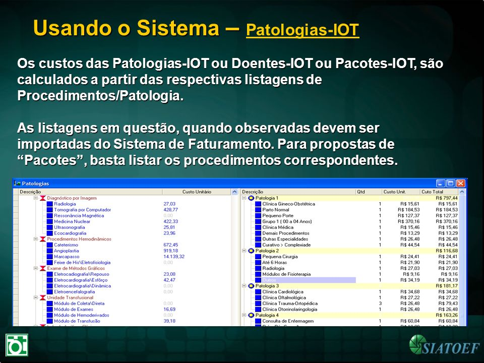 Usando o Sistema – Patologias-IOT