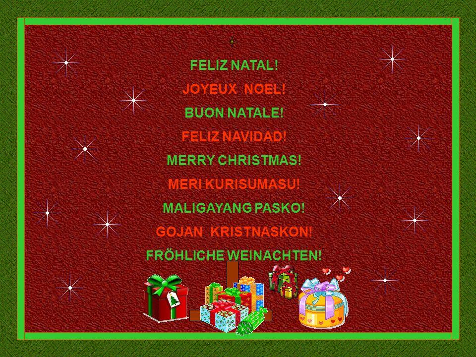 FELIZ NATAL! JOYEUX NOEL! BUON NATALE! FELIZ NAVIDAD! MERRY CHRISTMAS! MERI KURISUMASU! MALIGAYANG PASKO!