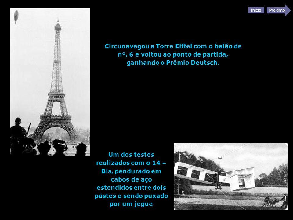 Circunavegou a Torre Eiffel com o balão de nº