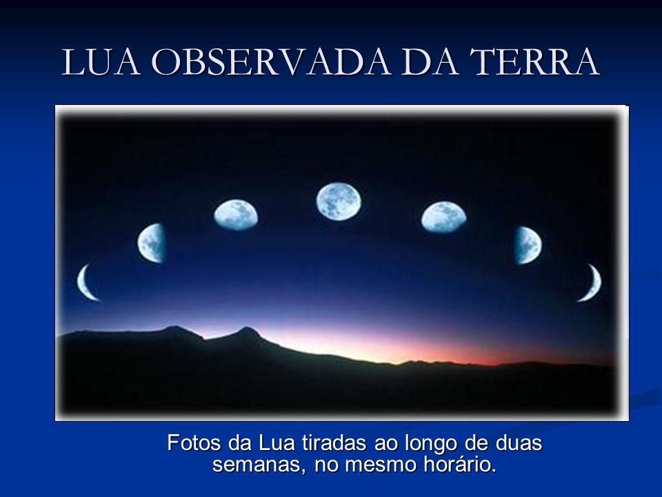 Fotos da Lua tiradas ao longo de duas semanas, no mesmo horário.