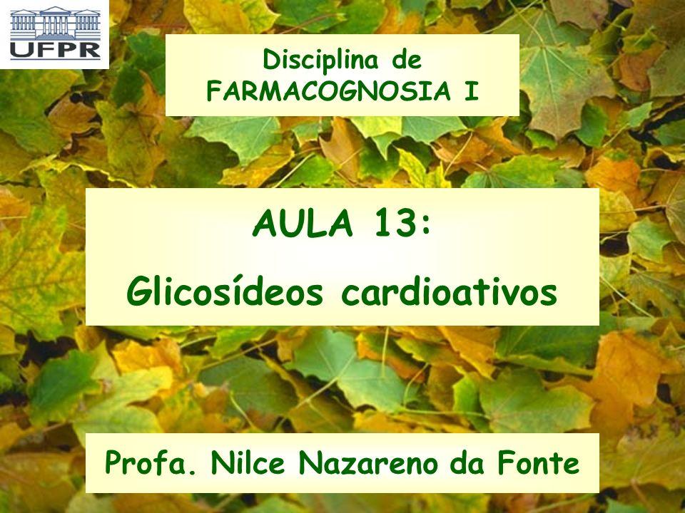 AULA 13: Glicosídeos cardioativos