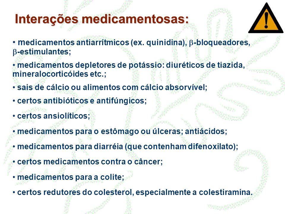 Interações medicamentosas: