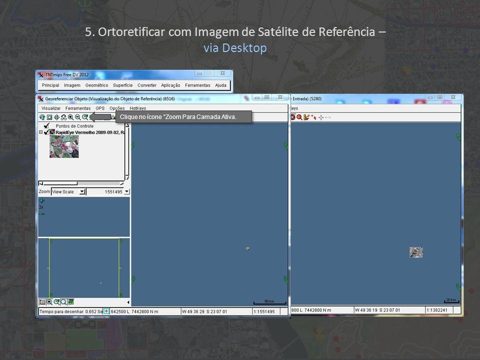 5. Ortoretificar com Imagem de Satélite de Referência –