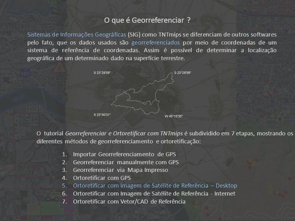 O que é Georreferenciar