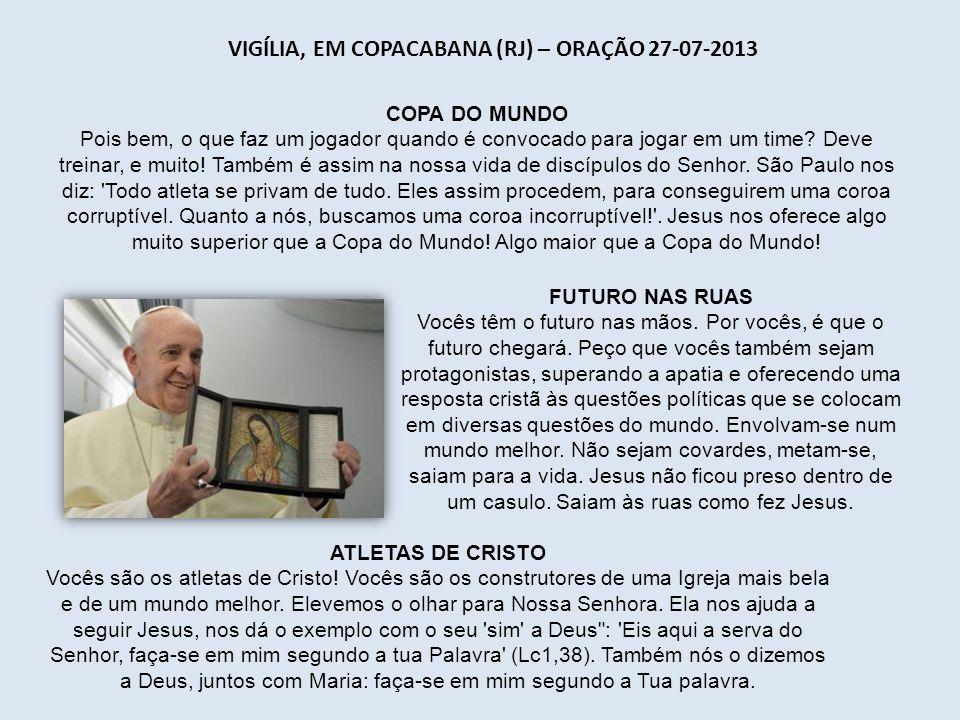 Vigília, em Copacabana (RJ) – Oração 27-07-2013