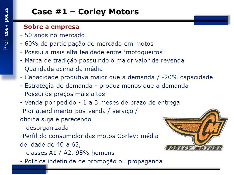 Case #1 – Corley Motors Sobre a empresa - 50 anos no mercado