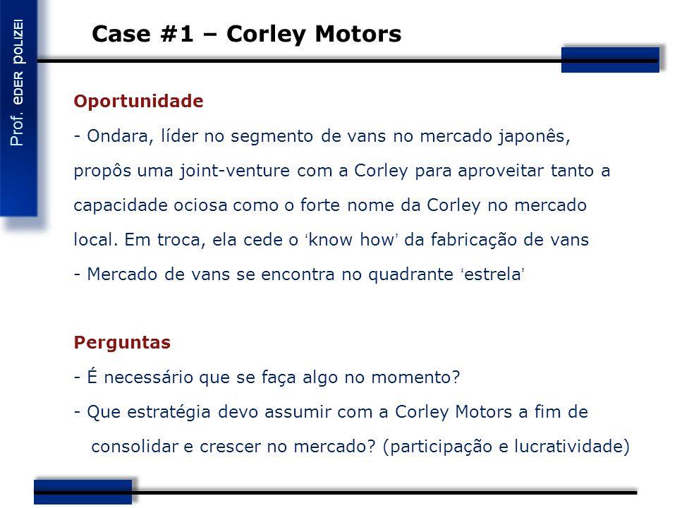 Case #1 – Corley Motors Oportunidade