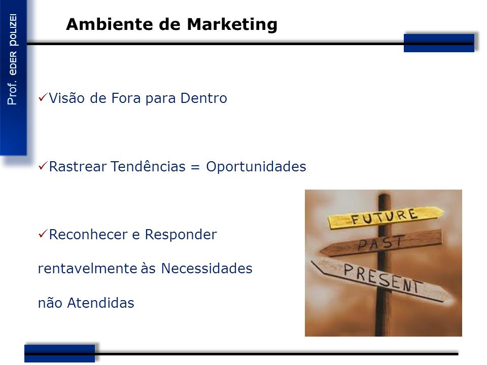 Ambiente de Marketing Visão de Fora para Dentro