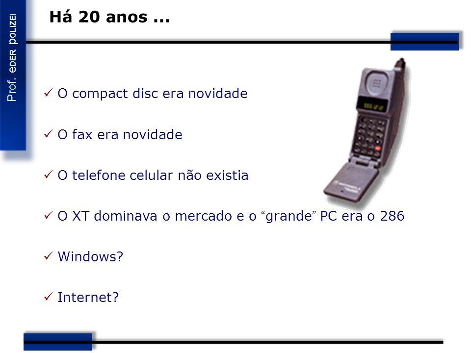 Há 20 anos ... O compact disc era novidade O fax era novidade