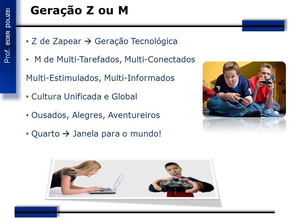 Geração Z ou M Z de Zapear  Geração Tecnológica