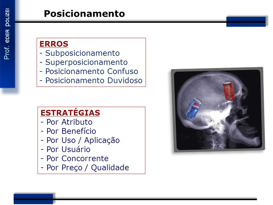 Posicionamento ERROS - Subposicionamento - Superposicionamento