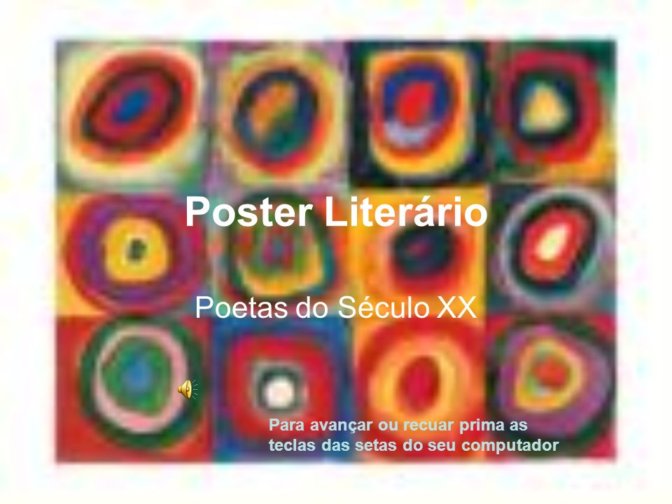 Poster Literário Poetas do Século XX