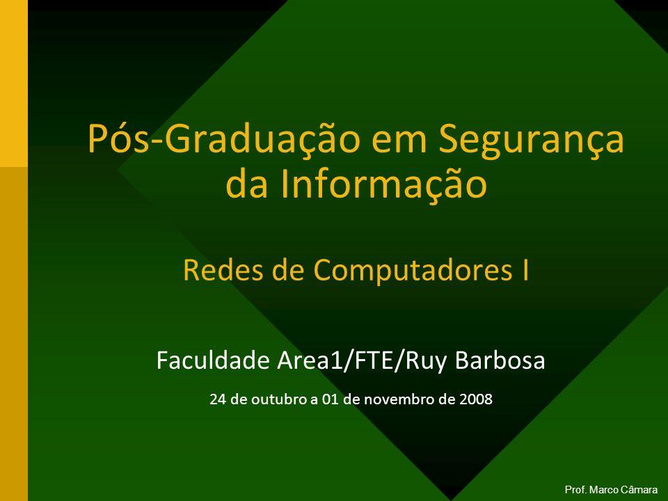 Pós-Graduação em Segurança da Informação Redes de Computadores I