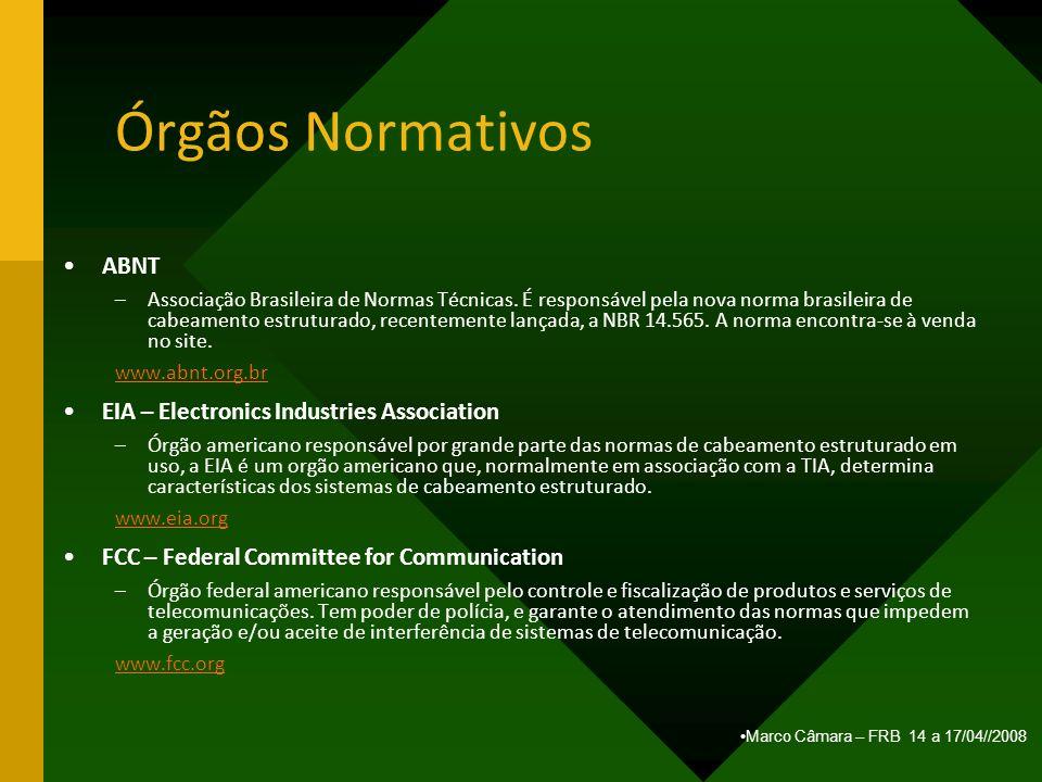 Órgãos Normativos ABNT EIA – Electronics Industries Association