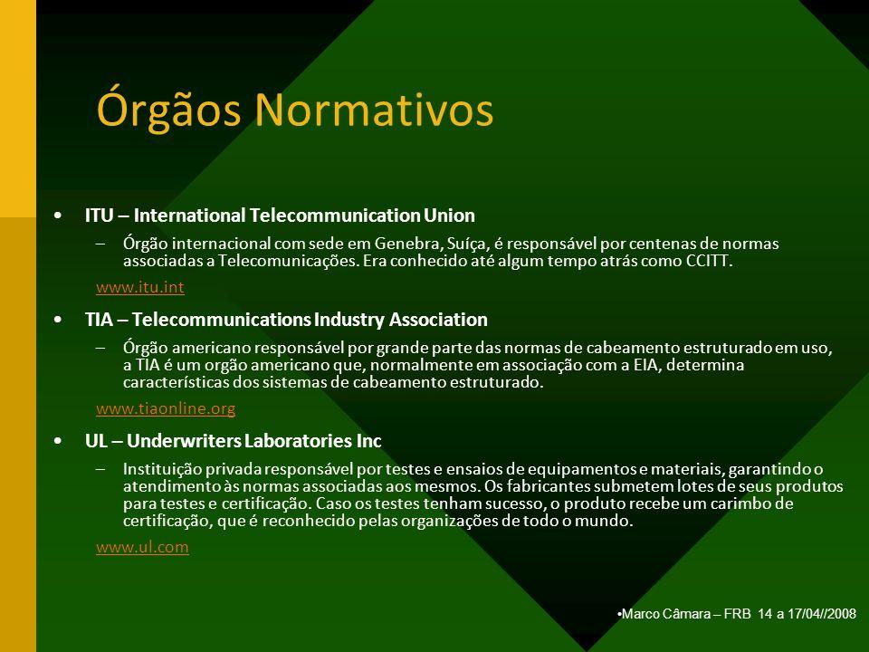 Órgãos Normativos ITU – International Telecommunication Union