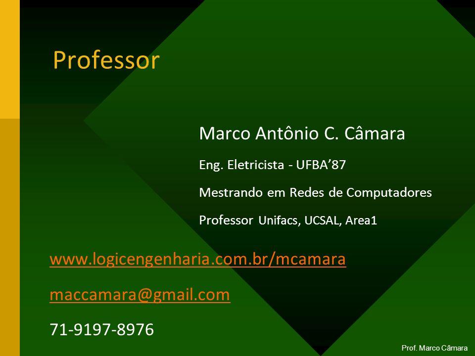 Professor Marco Antônio C. Câmara www.logicengenharia.com.br/mcamara