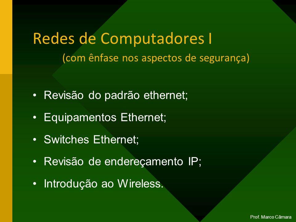 Redes de Computadores I (com ênfase nos aspectos de segurança)