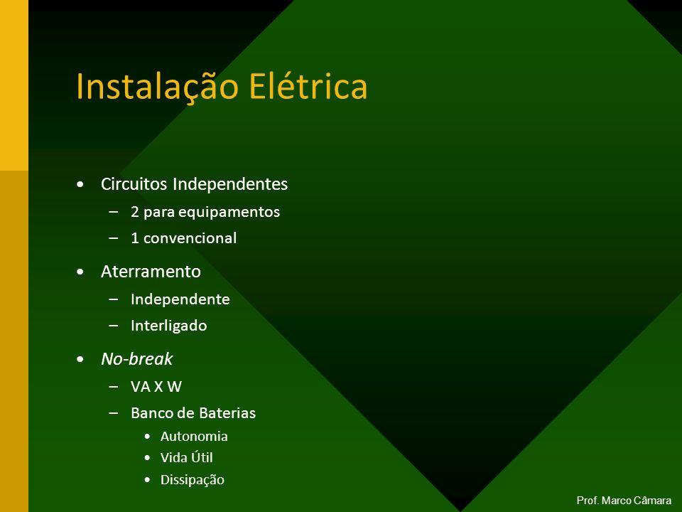 Instalação Elétrica Circuitos Independentes Aterramento No-break